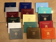 Citta' del Vaticano Serie Zecca Divisionali dal 2002 al 2020 UNC ENTRA E SCEGLI