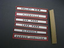 Mini-Craft, Flyerville Station Sign Assortment with Signboard for American Flyer