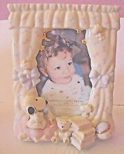 """LENOX CHINA BABY SNOOPY PICTURE FRAME 4"""" x 6"""" PEANUTS SNOOPY BEAR & WOODSTOCK"""