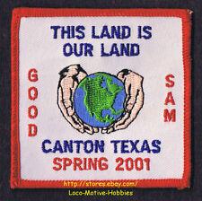 LMH Patch  2001 GOOD SAM CLUB SAMBOREE Rally  CANTON TX  This Land is Our Globe