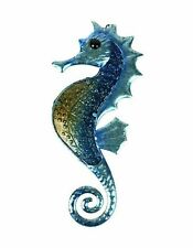 Metal & Glass Seahorse Wall Decor hanging sculpture for patio, room