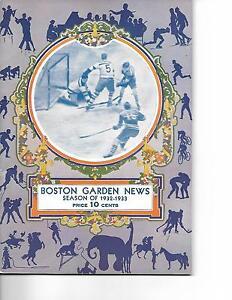 1932-33 Boston Bruins-Maroons Program B's Bomb Maroons NICE!!
