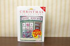 Vintage 1995 Unused Christmas Pop-Up Cards set 6 Envelopes Toy Shop Creative Hor