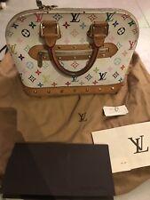 5f2e1231e676e 100% Original Louis Vuitton Alma multicolor weiss limitiert Bag Luxury LV  Rar