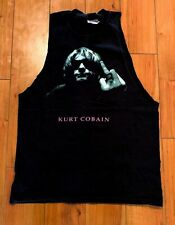 KURT KOBAIN, THE FINGER, ONE OF A KIND MENS SIZE SMALL VINTAGE 90's sleeve less