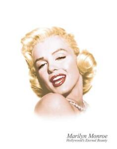 "New ""Marilyn Monroe Eternal Beauty"" Vintage Hollywood Icon Wall Art Metal Sign."