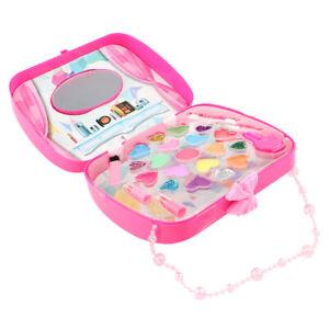 Girl Princess Makeup Box w Mirror Toy Pretend Eco-friendly Cosmetic Lipstick