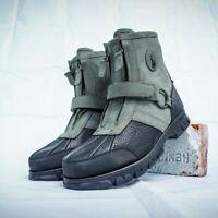 Polo Ralph Lauren Conquest HI III  Leather Boots Front Zip Men's Size 9.5 Black