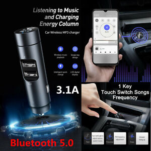 Wireless Bluetooth 5.0 Car MP3 Player FM Transmitter Radio Adapter USB Charger