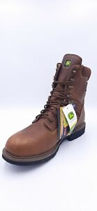 "Dan Post John Deere Men's 8"" Leather Waterproof Farm/Work Boots, Size: 15,..."
