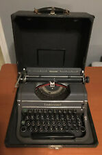 Vtg Circa 1940 Underwood Universal F Model Four Bank Typewriter Unrestored Nice