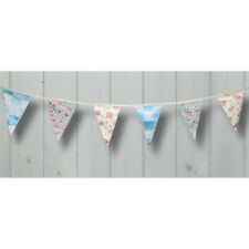 Country Garden Vintage Floral Cotton Bunting By Club Green 3mtr Luxury Garland