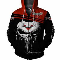 Victory Motorcycles Zip up Hoodie Shirt for Men-US Size ver418
