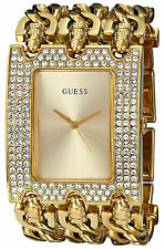 Guess Reloj Mujer Bracelet Pulsera Watch Woman Gold Crystal Stone Hand Oro Chain