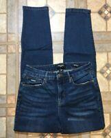 Nine West Women's High Rise Ankle Skinny Jeans Size 4 Medium Wash Stretch Denim