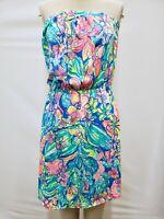 "New Lilly Pulitzer Women's Windsor Dress Bennet Blue ""Surf Gypsea Swim"" XS"