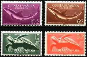 Timbres Faune marine Requins Tortues Guinée espagnole 359/62 ** (53105BF)