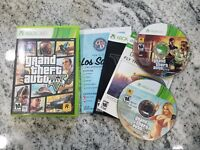Grand Theft Auto V for Xbox 360 GTA 5  FREE FAST SHIPPING COMPLETE W/Map