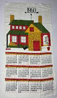 """Lois Long Vintage 1960 Farmhouse Calendar Dish Tea Towel 29"""" x 16"""""""