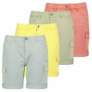 Sublevel Damen Cargo Shorts Bermuda Kurze Hose Shorts Short Denim Stretch Denim