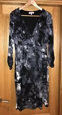 Marks And Spencer Per Una Grey Wrap Dress Size 14 Excellent Condition