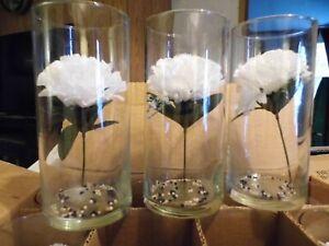 "12 Eastland Glass Cylinder Vase 7.5"" Tall x 3 7/16"" Pre-owned NO chips or cracks"