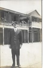 Mr Mellott Who Established a Chain of Grocery Stores in NJ Real Photo RPPC 1913