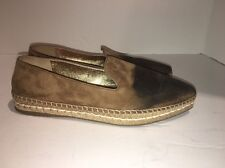 PRADA Pointy Toe Espadrille Flat Women Brown Suede Shoes Size 38.5 $495
