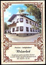 tour. Prospekt, Wilfersdorf, Niederösterreich, Pension Welserhof, um 1985