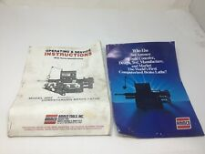 Ammco 2002 Computerized Brake Lathe Operating Amp Service Instructions With Parts Id