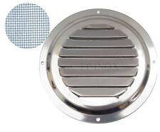 Grille inox Ronde Avec Moustiquaire Ø 150 mm Grille aération ventilation