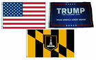 3x5 Trump #1 & USA American & City of Baltimore Wholesale Set Flag 3'x5'