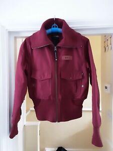 Women's Alpha Industries wine bomber jacket M