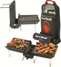 New Son Of Hibachi Combo Pack w/ Portable Charcoal Barbecue Grill & Carry Bag