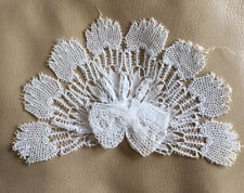 More details for antique lace bow jabot french white lace edwardian collar cotton retro fabric