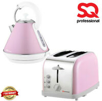 1.8L Cordless Boil Jug Electric Kettle & Wide Slice Bread Toaster Set UK Seller
