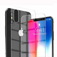 9H For iPhone XS Max XR X Front+Back 3D Curved Tempered Glass Screen Protector