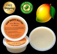 Mango Butter Raw 8 oz. 100% Pure Unrefined Organic Natural For Skin, Body, Hair