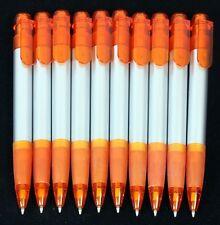 10 Orange et Argent Click Action Stylo à Bille - Encre Noir