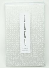 Oake Speckled Colorblock 100% Cotton Sateen Pillowcase Pair - STANDARD - Gray
