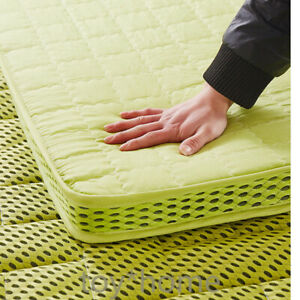 4D Breathable Bamboo Fiber Thick Warm Foldable Mattress Topper Quilted Bed Newly