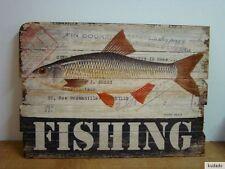 Nr.G8690 Deko - Bild - Druck - Shabby chic - fishing - Fisch