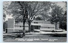 Crete Nebraska~Doane College~Goodall Science Bldg~1950s Car Fins~Real Photo A85