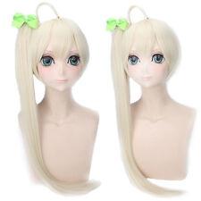 In solitude Kasugano Sora braid Ponytail Creamy Cosplay Anime party Hair Wig