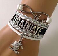 Graduation Infinity Bracelet Graduate HatBDiploma Charm Memory QUALITY FAST USA