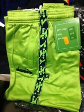 DIADORA TRACKSUITS BOTTOMS POLYESTERIN  small /med large AT £12LIME