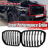 For 2019 BMW X5 G05 Gloss Black Pair Front Kidney Mesh Grill Grille