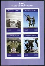 Chad 2019 MNH WWII WW2 D-Day 75th Anniv 4v IMPF M/S Military World War II Stamps