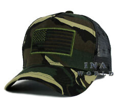 USA American Flag hat Tactical Army Snapback cap Flag Printed on Mesh- Army Camo