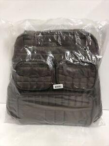 Lug Puddle Jumper Quilted Travel Tote Bag Medium Walnut New